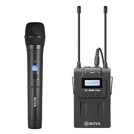 Boya BY-WHM8 Pro Kablosuz Dinamik El Tipi Mikrofon Seti v1
