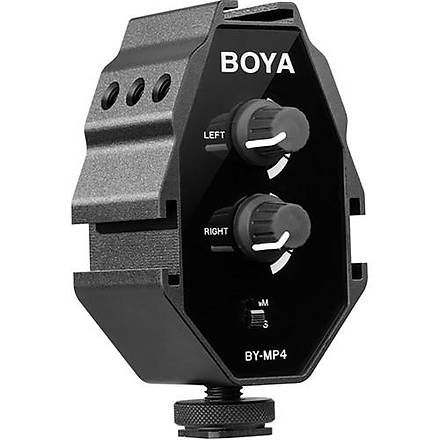 Boya BY-MP4 Telefon ve Kamera Mikrofon Ses Mikseri