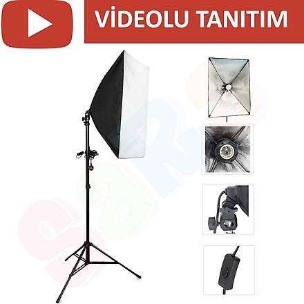 Youtube Video Softbox Sabit Iþýk Seti Sürekli Iþýk 50x70cm