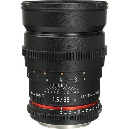 Samyang 35mm T1.5 VDSLR Canon Uyumlu Lens