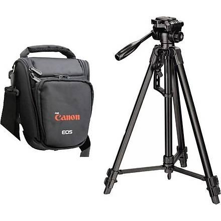 Canon 100D Fotoðraf Makinesi Ýçin 157cm Tripod + Üçgen Çanta