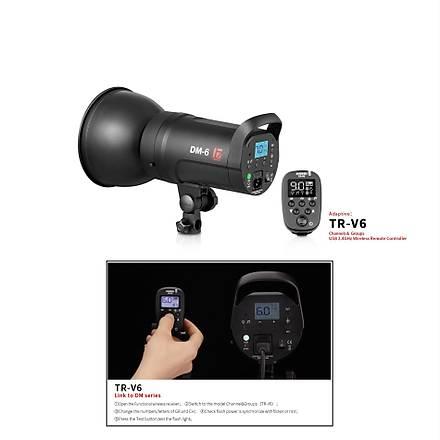 JINBEI DM6- 600w/DM4-400w PRO Dýgýtal LCD Ekran Kit 3 lü Paraflaþ Set