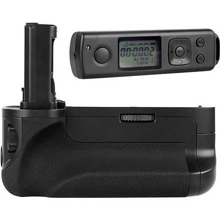 MeiKe Sony A7, A7R, A7S Ýçin MeiKe MK-AR7 Battery Grip + 2 Ad. Batarya + Zaman Ayarlý Uzaktan Kumanda
