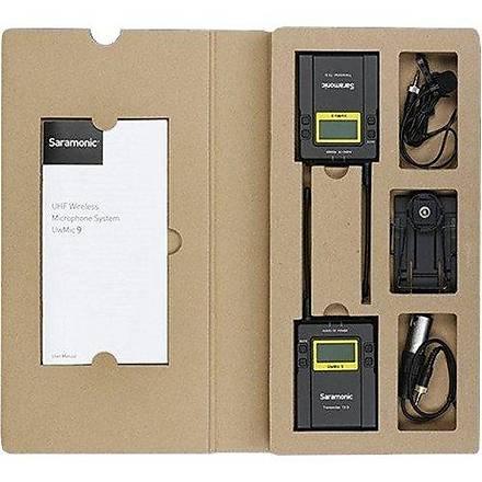 Saramonic UwMic9 (RX9 + TX9 + TX9) 1 Verici + 2 Alýcý Kablosuz Yaka Mikrofonu