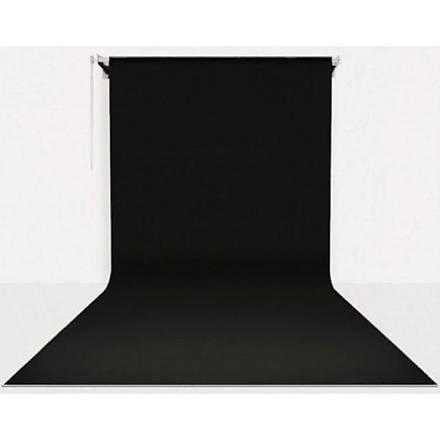 Stüdyo Teknik 270cm x 580cm Sonsuz Siyah Fon Perdesi Seti