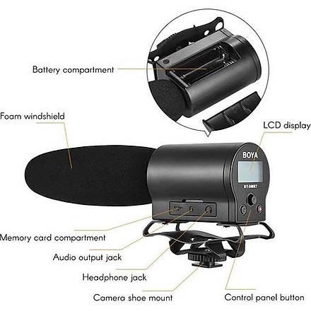 Boya BY-DMR7 Shotgun Mikrofon Ses Kayýt Cihazý