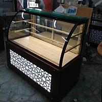 150 cm Özel Tasarým Waffle Kumpir Pasta Teþhir Dolabý