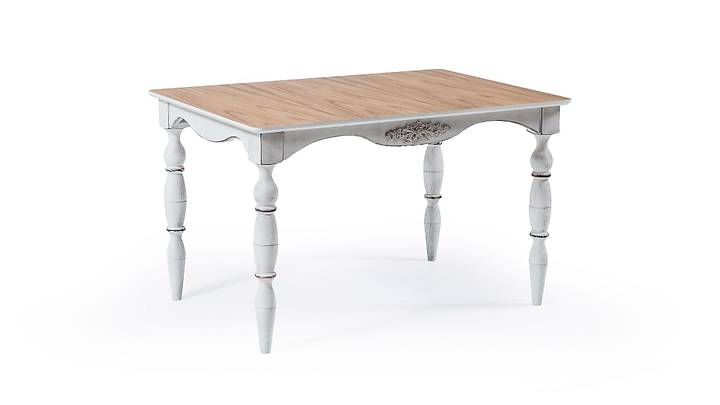 Rustik Beyaz Eskitme Masa
