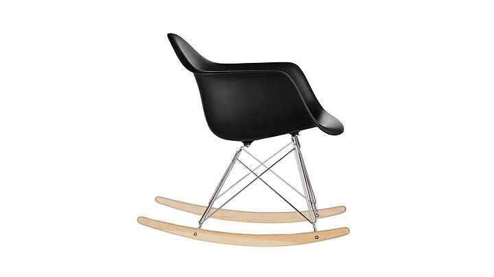Eames Sallanan Sandalye Siyah