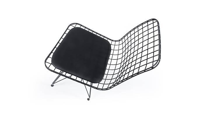 Gustav Tel Sandalye Siyah