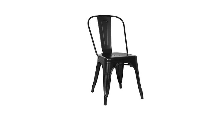 Tolix Sandalye Siyah