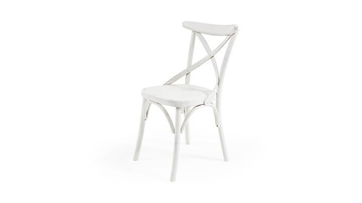 Thonet Eskitme Beyaz Sandalye