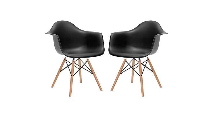 Eames Kollu Sandalye Siyah