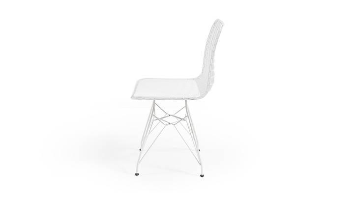 Gustav Tel Sandalye Beyaz