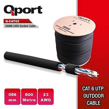 Qport Q-CATO2 23AWG CAT6 500mt UTP Outdoor Kablo