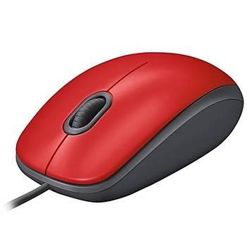 Logitech M110 Silent Mouse Usb Red 910-005489