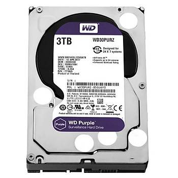 WD PURPLE 3,5 3TB 64MB 5400RPM WD30PURZ