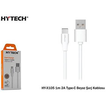 Hytech HY-X105 1m 2A Type-C Siyah Þarj Kablosu