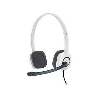 Logitech H150 Mikrofonlu Kulaklýk/Beyaz 981-000350