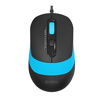 A4 Tech FM10 Mouse / Usb / Mavi 1600DPI
