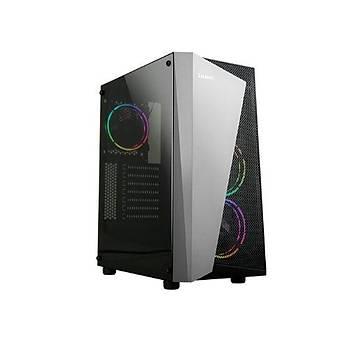 Zalman S4-Plus(BL)-500W Mid Tower Kasa Siyah