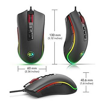 Redragon COBRA RGB Optik Oyuncu Mouse