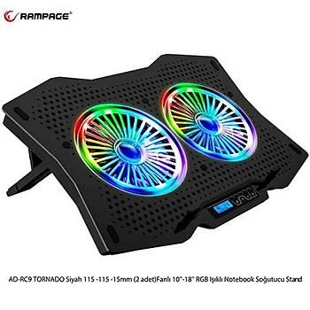 Rampage AD-RC9 TORNADO RGB  Notebook Soðutucu