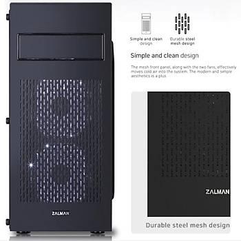 Zalman N2 Mid Tower Kasa Siyah PSU YOK