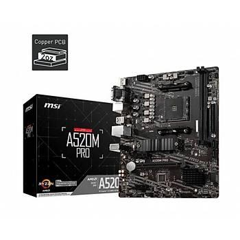 MSI A520M PRO AM4  DDR4 S+V+GL AM4