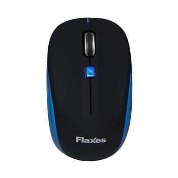 Flaxes FLX-925MS Optik Kablosuz Mouse Mavi-Siyah