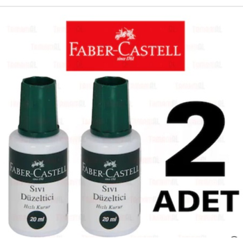 FABER CASTELL FIRÇALI SIVI DÜZELTÝCÝ DAKSÝL (DAKTÝL) 2 ADET