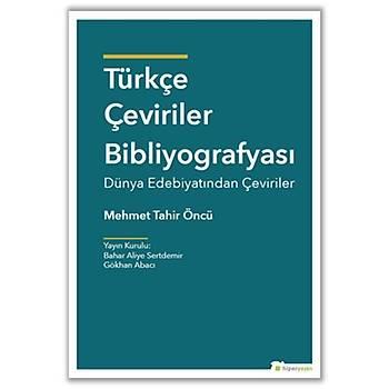 Türkçe Çeviriler Bibliyografyasý Dünya Edebiyatýndan Çeviriler
