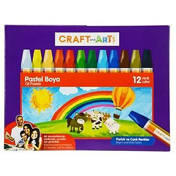CRAFT AND ARTS Pastel Boya 12Li