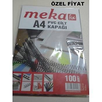 MEKA-FÝX A4 PVC ÞEFFAF CÝLT KAPAÐI