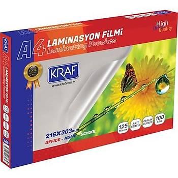 Laminasyon Filmi Parlak A4 125Mýc 100Lü 2124 Kraf