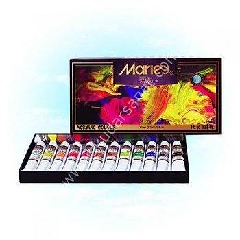 Maries 12 Renk Akrilik Boya 812B