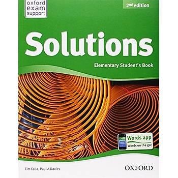OXFORD SOLUTIONS 2ED ELEMENTARY SB +WB  2 kitap