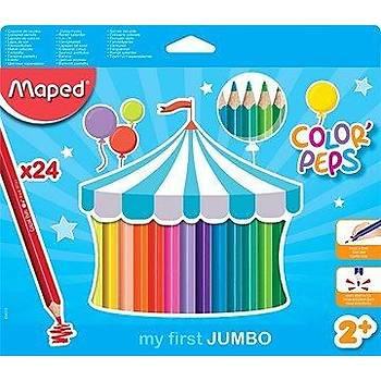 Maped 834013 Color Peps Jumbo Kuru Boya 24 Renk