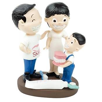 Ortodonti Braketli Anne, Baba, Çocuk Aile Biblo