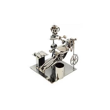 Robot Diþ Hekimi Metal Biblo