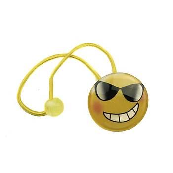 Gözlüklü Emoji toka