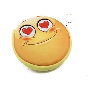 Gözleri Kalpli Aþýk Emoji Anahtarlýk Cüzdan