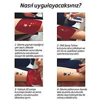 Kemal Atatürk İmza Dövmesi Sprey Dövme ve Şablon Seti Tattoo