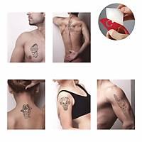 Korkusuz Kuru Kafa Modeller Sprey Dövme ve Şablon Seti Tattoo Dövme