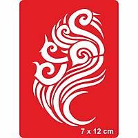 Tribal 212 Dövme Þablonu Kýna Deseni
