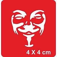 Özgürlük Savaþçýsý Vendetta Dövme Þablonu Kýna Deseni