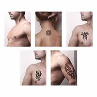 Tribal Kol Dövmesi Sprey Dövme ve Şablon Seti Tattoo
