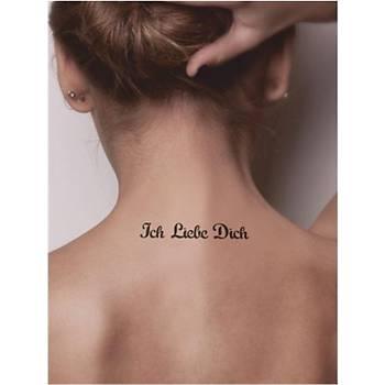 Seni Seviyorum (Almanca) Tattoo Dövme Þablonu Kýna Deseni