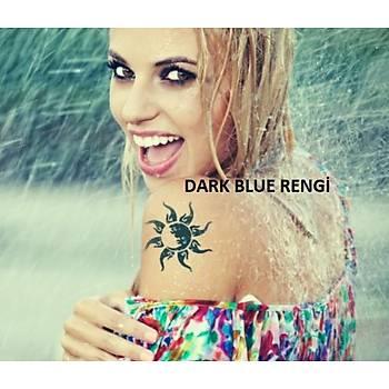 Dark Blue Gerçek Dövme Rengi Geçici Dövme Spreyi
