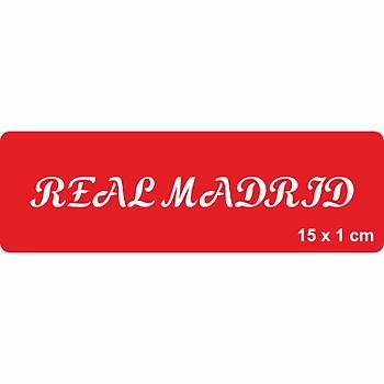 Real Madrid El Yazýsý Büyük Harf Font Dövme Þablonu Kýna Deseni